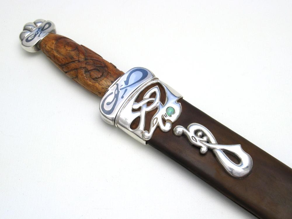 Arctic Fire niello dagger